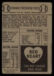 1954 Red Heart #32   Eddie Yost   Back Thumbnail