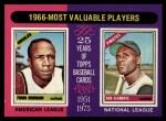 1975 Topps #204  1966 MVPs  -  Frank Robinson / Roberto Clemente Front Thumbnail