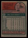 1975 Topps #83   Jim Merritt Back Thumbnail