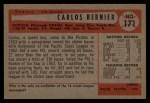 1954 Bowman #171  Carlos Bernier  Back Thumbnail