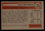 1954 Bowman #117  Dick Kryhoski  Back Thumbnail
