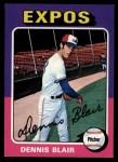 1975 Topps #521   Dennis Blair Front Thumbnail