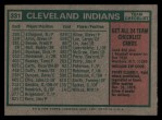 1975 Topps #331   -  Frank Robinson Indians Team Checklist Back Thumbnail