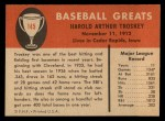1961 Fleer #145   Hal Troskey Back Thumbnail