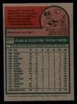 1975 Topps #277   Frank Taveras Back Thumbnail