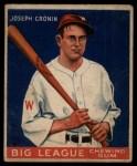 1933 Goudey #63  Joe Cronin  Front Thumbnail