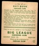 1933 Goudey #67   Guy Bush Back Thumbnail