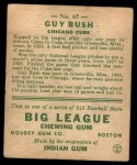 1933 Goudey #67  Guy Bush  Back Thumbnail