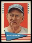 1961 Fleer #11   Mordecai Brown Front Thumbnail