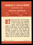 1963 Fleer #87   Chuck Gavin Back Thumbnail