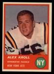1963 Fleer #16   Alex Kroll Front Thumbnail