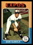 1975 Topps #391   Don DeMola Front Thumbnail