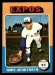 1975 Topps #286  Mike Jorgensen  Front Thumbnail