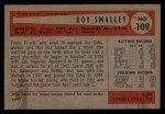 1954 Bowman #109   Roy Smalley Back Thumbnail