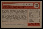 1954 Bowman #27   Dick Cole Back Thumbnail