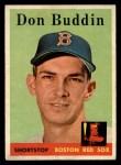 1958 Topps #297  Don Buddin  Front Thumbnail