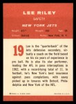 1963 Fleer #19   Lee Riley Back Thumbnail
