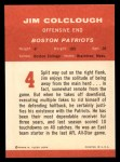 1963 Fleer #4   Jim Colclough Back Thumbnail