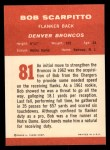 1963 Fleer #81   Bob Scarpitto Back Thumbnail