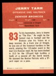 1963 Fleer #83  Jerry Tarr  Back Thumbnail