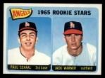 1965 Topps #517   Angels Rookie Stars  -  Paul Schaal / Jack Warner Front Thumbnail