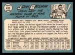 1965 Topps #433   John Bateman Back Thumbnail