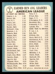 1965 Topps #7  1964 AL ERA Leaders  -  Dean Chance / Joel Horlen Back Thumbnail