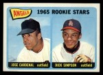 1965 Topps #374   Angels Rookie Stars  -  Jose Cardenal / Dick Simpson Front Thumbnail