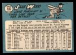 1965 Topps #547  Jake Wood  Back Thumbnail