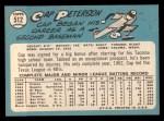 1965 Topps #512  Cap Peterson  Back Thumbnail