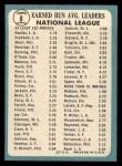 1965 Topps #8   -  Don Drysdale / Sandy Koufax NL ERA Leaders Back Thumbnail