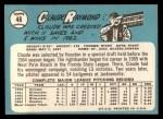 1965 Topps #48   Claude Raymond Back Thumbnail