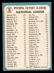 1965 Topps #10  1964 NL Pitching Leaders  -  Larry Jackson / Juan Marichal / Ray Sadecki Back Thumbnail