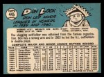 1965 Topps #445  Don Lock  Back Thumbnail