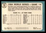 1965 Topps #135  1964 World Series - Game #4 - Boyer's Grand Slam  -  Ken Boyer / Elston Howard Back Thumbnail