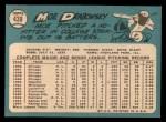 1965 Topps #439   Moe Drabowsky Back Thumbnail
