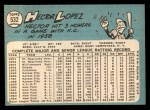 1965 Topps #532  Hector Lopez  Back Thumbnail