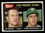 1965 Topps #286   Athletics Rookie Stars  -  Jim Dickson / Aurelio Monteagudo Front Thumbnail