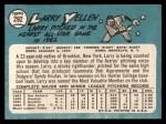1965 Topps #292   Larry Yellen Back Thumbnail