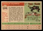 1955 Topps #124   Harmon Killebrew Back Thumbnail
