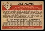 1953 Bowman #3   Sam Jethroe Back Thumbnail