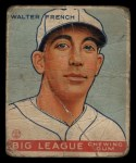 1933 Goudey #177   Walter French Front Thumbnail