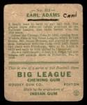 1933 Goudey #213   Earl Adams Back Thumbnail