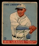 1933 Goudey #133  Freddy Lindstrom  Front Thumbnail