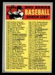 1970 Topps #128 COR Checklist 2  Front Thumbnail