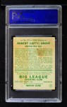1934 Goudey #19  Lefty Grove  Back Thumbnail