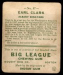 1933 Goudey #57  Earl Clark  Back Thumbnail