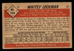 1953 Bowman #128   Whitey Lockman Back Thumbnail