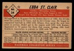 1953 Bowman Black and White #34   Ebba St. Clair Back Thumbnail