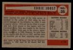 1954 Bowman #35 A  Eddie Joost Back Thumbnail